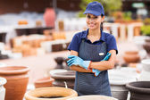 Young home and garden store business owner — Stock Photo