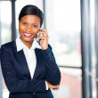 African businesswoman talking on cell phone — Stock Photo #44712639