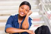 Pretty black college girl — Stock Photo