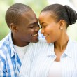 Young african american couple looking at each other — Stock Photo