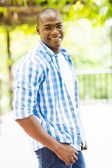Handsome african american man outdoors — Stock Photo