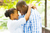 African couple embracing — Stock Photo
