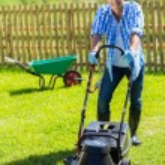 Man lawn mowing — Stock Photo #46007583
