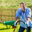 Man mowing lawn — Stock Photo #46007671