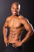Young afro american bodybuilder — Stock Photo
