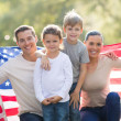 Beautiful modern american family — Stock Photo