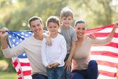 Beautiful modern american family — Stock Photo