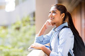 College student looking up — Stock Photo
