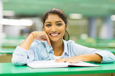 Indian college student in library — Stock Photo