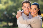Young loving couple hugging — Stock Photo