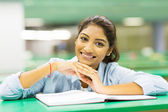 Cute female college student — Stock Photo