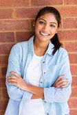 Indian student with arms crossed — Stock Photo