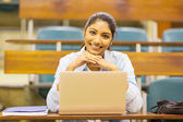 Indian college student in lecture room — Stock Photo