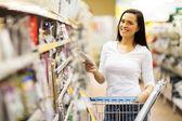 Woman shopping at hardware store — Stock Photo