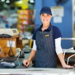 Woman working as a cashier — Stock Photo #47571051