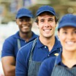 Workers standing in row — Stock Photo #47574171
