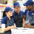 Store workers discussing — Stock Photo #47583595
