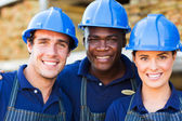 Hardware store workers — Stock Photo