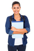 College student holding books — Stock Photo