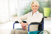Disabled middle aged woman — Stock Photo