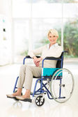 Handicapped middle aged woman — Stock Photo
