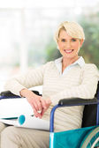 Handicapped woman relaxing at home — Stock Photo