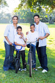 Young indian family of four — Stock Photo