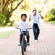 Father and son on bike — Stock Photo #49181191