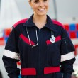 Paramedic in front of ambulance — Stock Photo #49181493