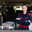 Happy female paramedic — Stock Photo #49182213