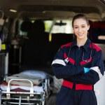 Happy female paramedic — Stock Photo #49182333