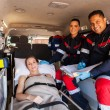 Paramedic team and patient — Stok fotoğraf