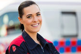 Young female paramedic — Stock fotografie