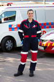 Emergency medical service worker — Stock Photo