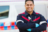 Male paramedic with arms crossed — Stock Photo
