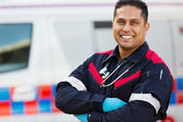 Male ambulance staff — Stock Photo