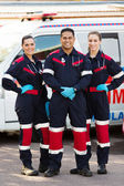 Emergency medical service team — Stock Photo