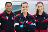 Group of emergency medical technicians — Stock Photo