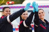 Paramedic team high five — Stock Photo