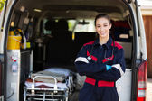 Happy female paramedic — Stock Photo