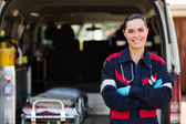 Emergency medical service worker — Photo