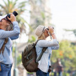 Two tourists taking pictures — Stock Photo #49241415
