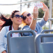 Tourists taking selfie with phone — Stock Photo #49245257
