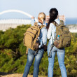 Two female travelers touring Durban — Stock Photo #49247809