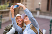 Friends taking self portrait — Stock Photo