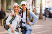 Female friends touring together — Stock Photo