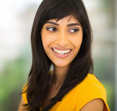 Indian woman smiling — Stock Photo