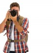 Young man taking photos — Stock Photo #49814497