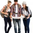 Tourists looking at map — Stock Photo #49815919