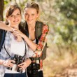 Friends in autumn mountain — Stock Photo #49818675